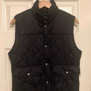 Banana Republic Mens Quilted Vest Blue Size S